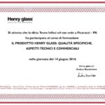 Attestato Henry Glass