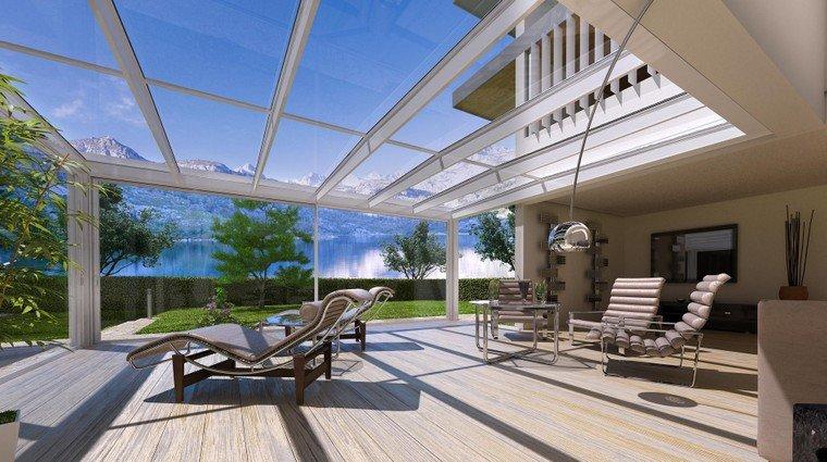 Verande E Giardini D Inverno Sunroom : Giardini di inverno sunroom sistemi con vetrate e