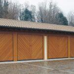 Portoni garage basculanti Ballan linea Legno Maxime HF