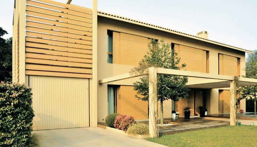 Portoni garage basculanti Ballan linea-steel-zink
