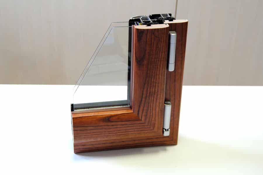 Serramenti alluminio legno biemme finestre sezione modello elipse tecnoinfissi srl - Finestre in alluminio color legno ...
