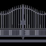 Cancello carraio ad anta battente monoblocco modello Alessia - Serie Futura Forgiafer