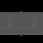 Cancello carraio ad anta battente modello Carla - Serie Futura Forgiafer