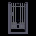 Cancello Pedonale ad anta battente monoblocco modello Hilary - Serie Futura Forgiafer