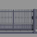 Cancello integrale scorrevole monoblocco modello Michela - Serie Futura Forgiafer