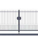 Cancello carraio ad anta battente monoblocco modello Miriam - Serie Futura Forgiafer