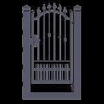 Cancello Pedonale ad anta battente monoblocco modello Sabrina - Serie Futura Forgiafer