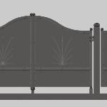 Cancello integrale ad anta battente monoblocco modello Sofia - Serie Futura Forgiafer