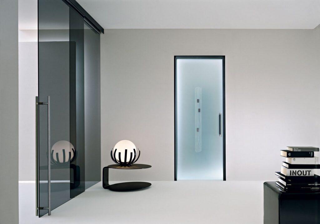 Porte in vetro scorrevoli a battente per interni henry - Porte scorrevoli da interni ...