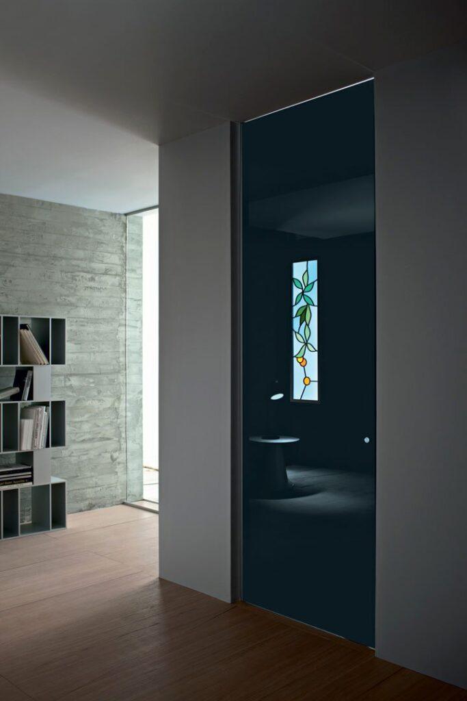 Porte in vetro scorrevoli a battente per interni henry - Maniglie porte vetro ...