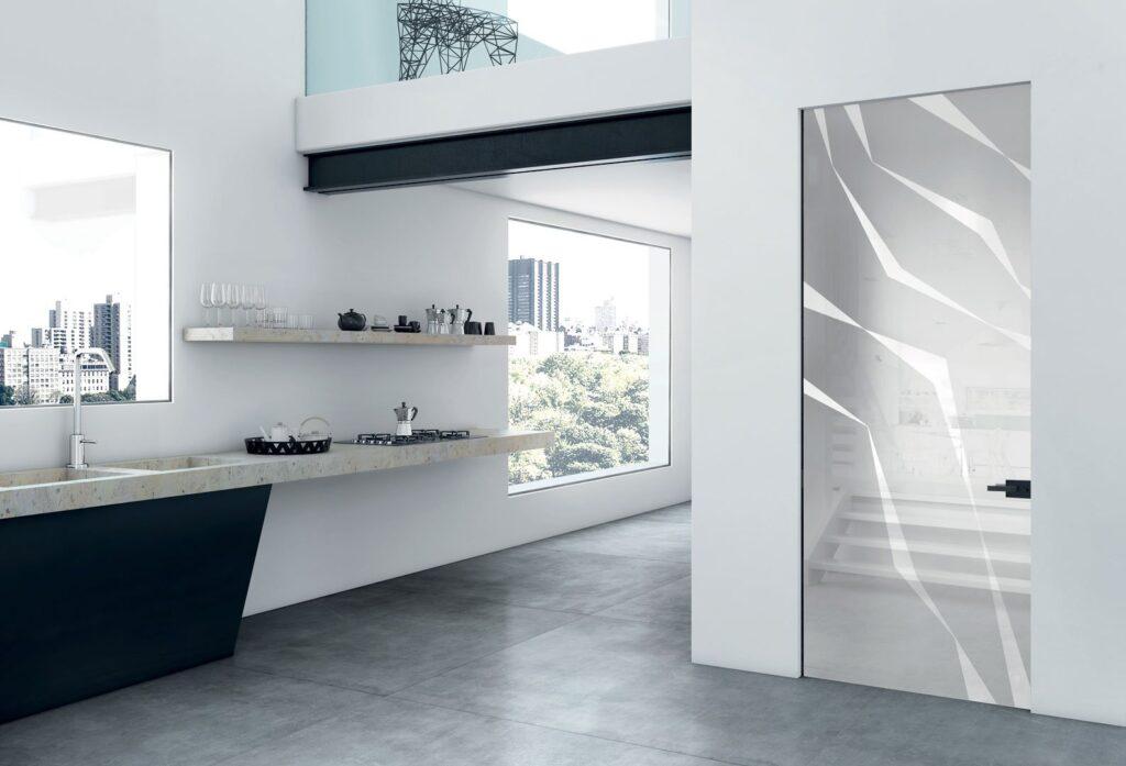 Porte in vetro scorrevoli a battente per interni henry - Porte scorrevoli per interno ...