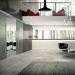 Porte vetro Henry Glass - modello hall-cemento