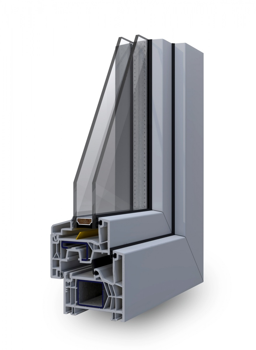 Infissi pvc korus serramenti finestre korus per un for Serramenti legno pvc