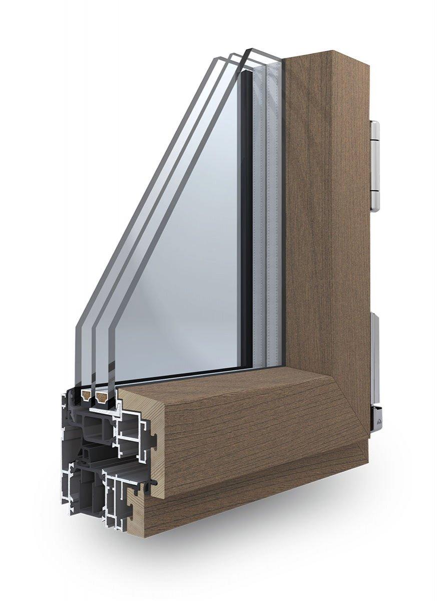 Infissi alluminio legno korus for Infissi finestre